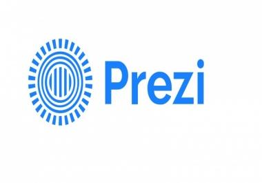 عرض تقديمي باستخدام برنامج بريزي  Prezi