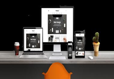 عمل مواقع باحدث تقنيات تصميم المواقع ومتجاوبه مع كل الشاشات عمل برمجه للصفحات في زمن قصير باذن الله
