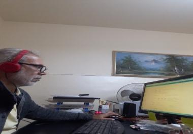 تدقيق نصوص باللغة العربية وتفريغ تسجيلات صوتية باللغة العربية لمقابلات وأبحاث أكاديمية .