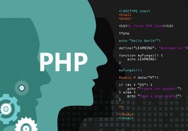 برمجة وتطوير موقعك بلغة php مع لوحة تحكم