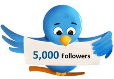 اضافة 5000 متابع في التويتر