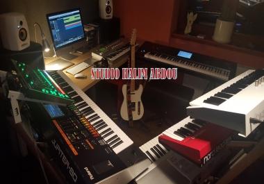 سأقوم بعزف. توزيع .هندسة وإنتاج موسيقى رائعة لجميع مشاريعك