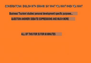 تعليم المحادثة باللغة الإنجليزية