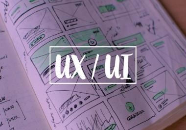 تصميم واجهات المستخدم UI UX لتطبيقات اندرويد و IOS