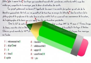 تدقيق للمقالات والرسائل العلمية باللغة العربية أو الفرنسية 5 دولارات لكل 500 كلمة