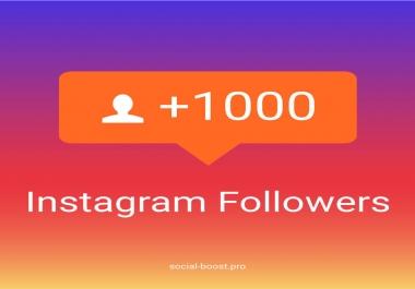 1000 متابع انستقرام