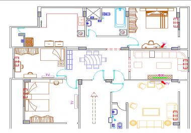 رسم اللوحات والرسومات المعمارية والانشائية على الأوتوكاد
