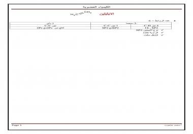 كتابة مذكرات الكيمياء العضوية بالعربي أو الانجليزي