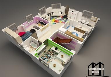 عمل مخطط لوحدتك السكنيه