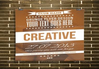 تصميم لك فلاير  flyer  مثير و مبدع لأعمالك