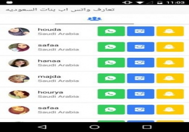 اضافة ارقام بنات من جميع الدول العربية