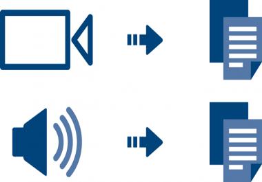 تفريغ محتوى أي ملف فيديو أو صوت إلى مستند word أو pdf
