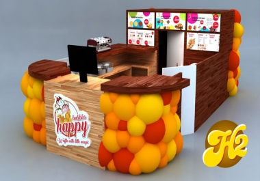 تصميم ثلاثي الأبعاد ستاند عرض لمنتجاتك   المنتجات   للمعرض