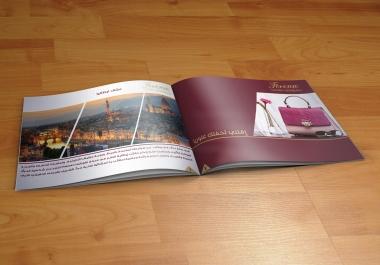 تصميم بروفايل او كتالوج ذوو جودة عالية بالتكلفة 5 دولار لصفحة واحدة بصيغة jpeg جودة عالية للطباعة.