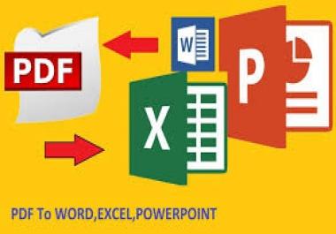 تحويل من ملف word أو pdf إلى ppt والعكس