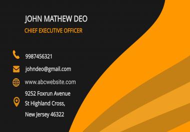 تصميم بطاقة أعمال