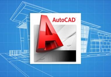 رسم المخططات المعمارية و الانشائية بواسطة اوتوكاد 2d