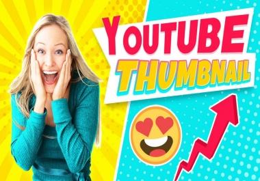 سوف أصمم لك 3 صورة مصغرة احترافية لليوتوب Youtube Thumbnail