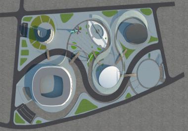 عمل مخططات وتصميمات معمارية 2D _ 3D للفراغات المختلفة