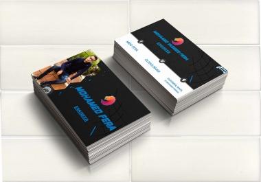 يمكنني تصميم بطاقات شخصية و بطاقات عمل باحترافية عالية