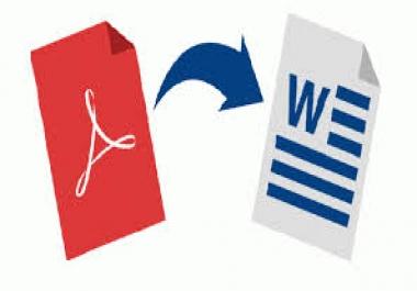 تحويل ملف pdf الى ملف وورد