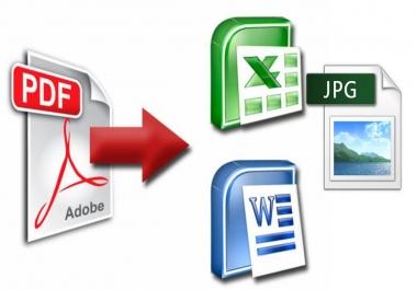 تحويل ملف PDF الى وورد او اكسيل او الى أى نوع من تنسيقات الملفات
