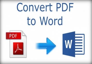 تحويل ملف pdf الي word  اربعين صفحة