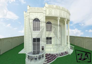 تصميم أي واجهة خارجية 3D بكامل تفاصيلها بواسطة برنامج 3DMAX