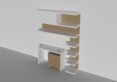 تصميم مكاتب وخزانات 3d