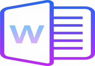 إدخال 20 صفحة على برنامج Word بدقة مع التنسيق الجيد مقابل 5 $