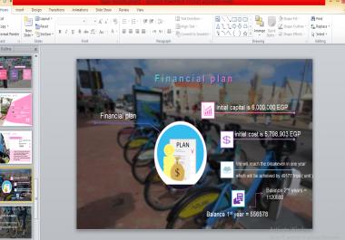 تصميم مشروع عرض بوربوينت بطريقة مبتكرة و احترافية powerpoint مع اضافة الصور و الايقونات