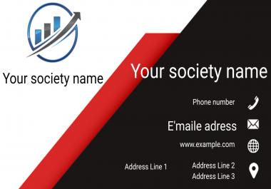 تصميم بطاقة عمل متميزة و مبتكرة من أجلك