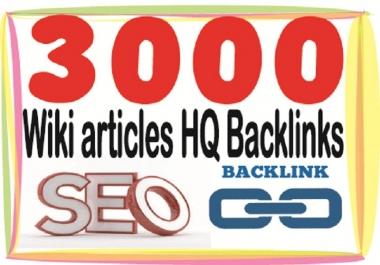 يدويا 3000 باك لينك من مواقع ويكي wiki دوفلو