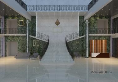 تصميم 3D و مناظير للواجهات الخارجية و الداخلية