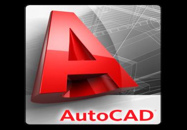 تقديم دورة باللغة الانجليزية لتعلم مجموعة من رسومات ومشاريع التدريب على برنامجAutoCAD 2D 3D