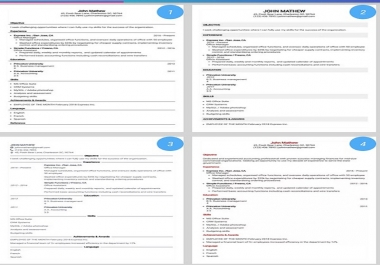 تصميم سيرة ذاتيّة CV احترافيّة باستخدام تصاميم مختلفة