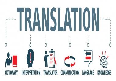 الترجمة من الانجليزية الى العربية