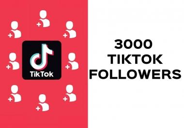 زيادة 3000 متابع لحسابك على تيك توك مع ضمان