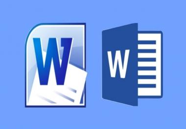 ترتيت وتنسيق ملف Microsoft Word