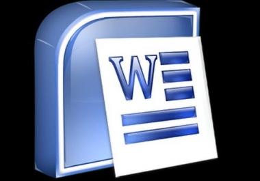 كتابة و تنسيق جميع النصوص باللغة العربية و الانجليزية بصيغة الوورد باحترافية وفى وقت سريع