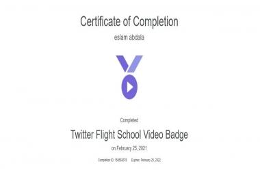 كيفيه الحصول علي شهاده من Twitter Flight School