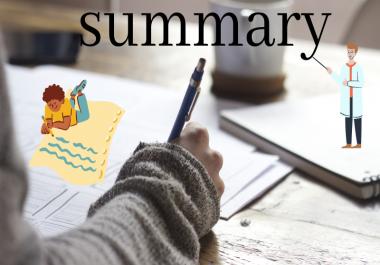 تلخيص وافي للمقالات او محاضراتك الدراسية باللغة الانكليزية