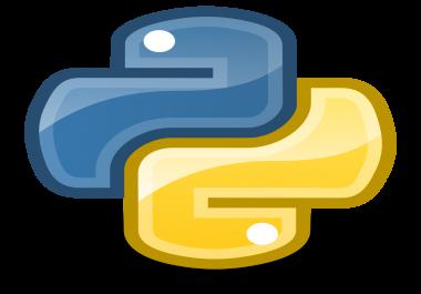 حل واجبات جامعية في لغة البرمجة بايثون