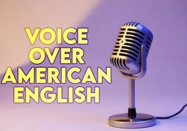 سأقوم بتقديم التعليق الصوتي الإحترافي باللغة الانجليزية .