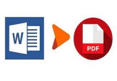 تحويل الملفات من word الي pdf