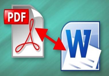 تحويل النصوص من pdf الى وورد وبالعكس