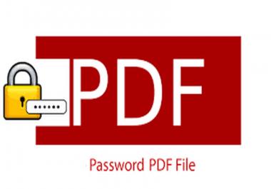 حماية ملف PDF من خلال اضافة كلمة مرور لحماية المعلومات