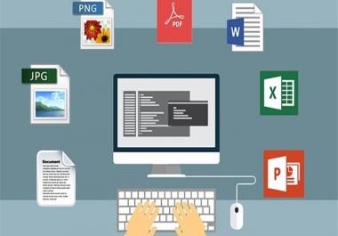 تحويل سريع للملفات المختلفة إلى Word او Excel مقابل 5 دولار
