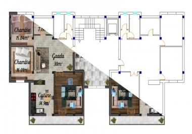 رسم مشاريع معماريه على الاوتوكاد