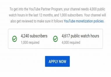 تخطي شروط يوتيوب 4000 ساعة مشاهدة حقيقية و مضمونة 100٪